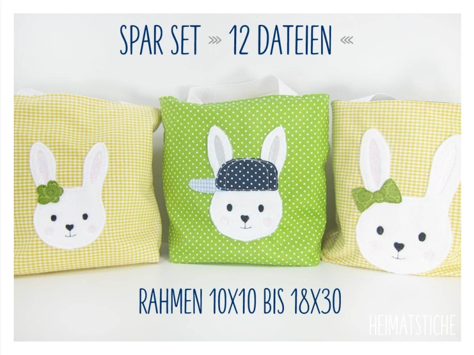 "Hasen Trio ""Spar Set"" - Stickdatei"