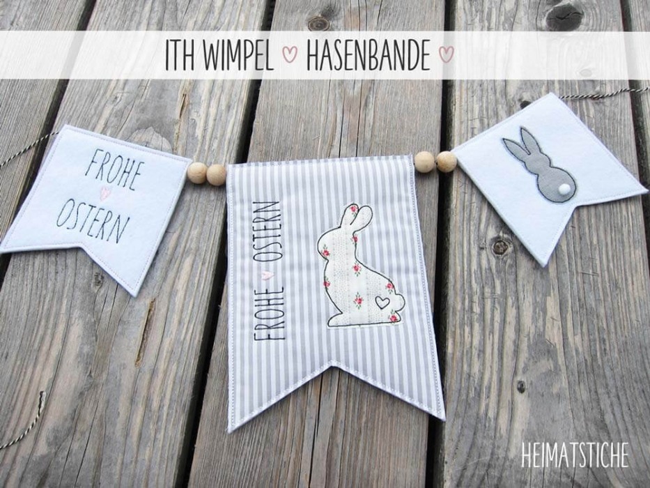 "ITH Wimpel ""Hasenbande"" - Stickdatei"