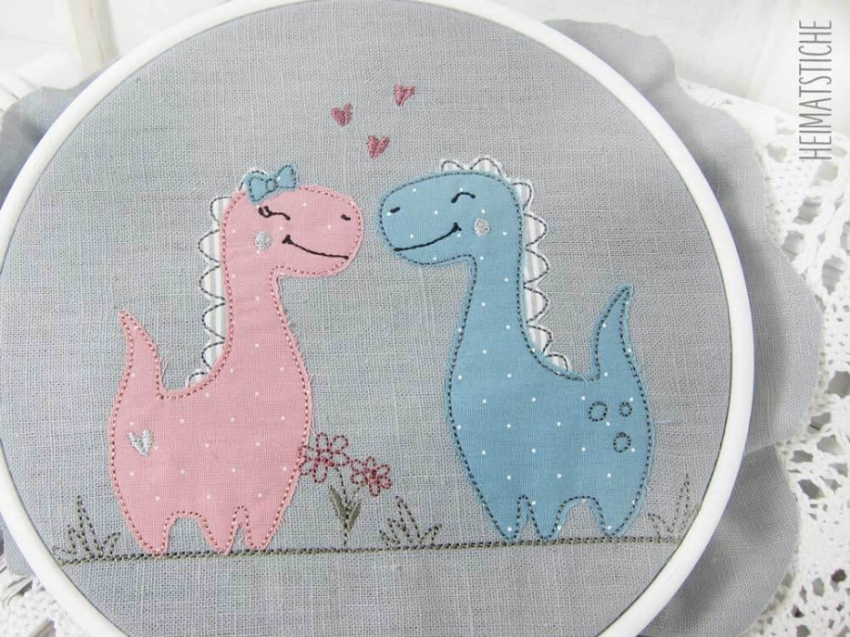 Dino Love - 7 tlg. Stickdatei